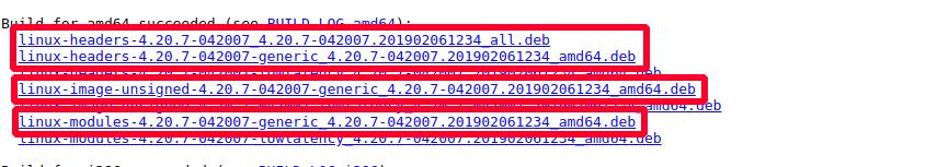 Kernel files screengrab